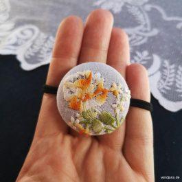 Vintage-Haarband Orange Flowers